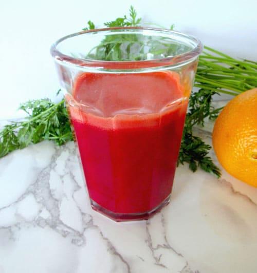 orange, carrot, beet drink