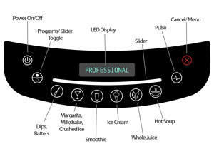 Blendtec Professional 800 controls