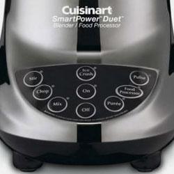 Cuisinart Smart Power Duet Blender and Food Processor control panel