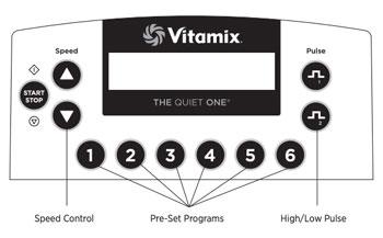 Vitamix The Quiet One Control Panel