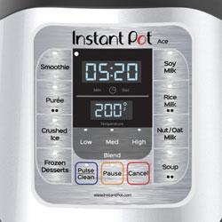 Instant Pot Ace Blender Controls