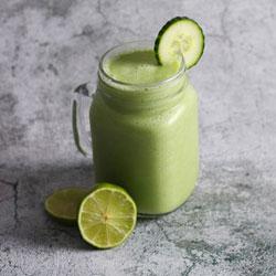 avocado cucumber lime smoothie